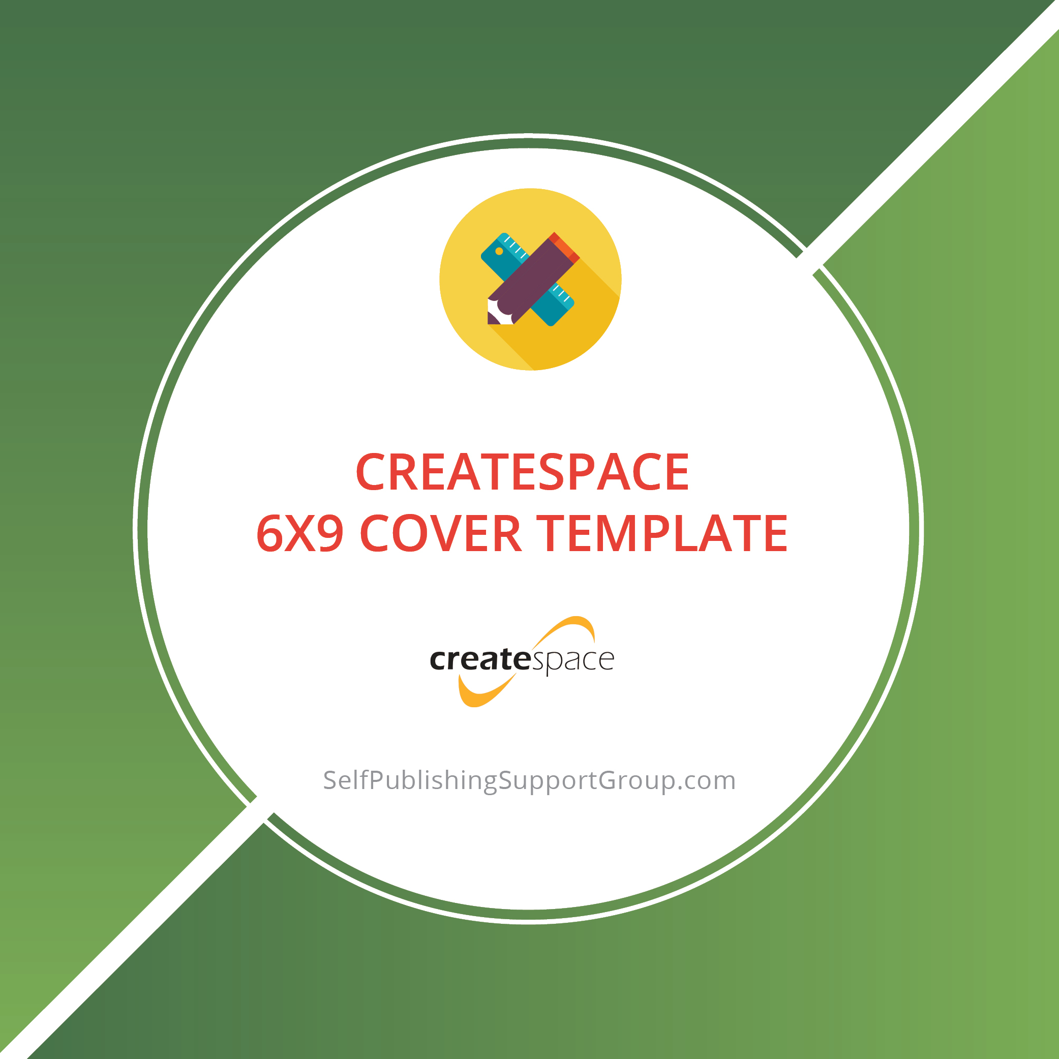 CreateSpace 6×9 Cover Overlays with Bleed and ISBN