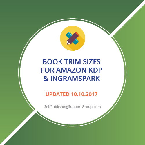 Book Trim Sizes in Inches for KDP and IngramSpark